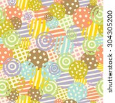 pastel polka dot. vector... | Shutterstock .eps vector #304305200