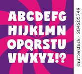 Bold alphabet of contrast uppercase letters. Simple cartoon font