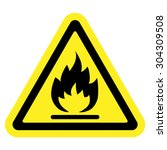 Fire Warning Sign In Yellow...