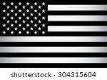 black and white american flag.... | Shutterstock .eps vector #304315604