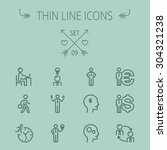 business thin line icon set for ... | Shutterstock .eps vector #304321238