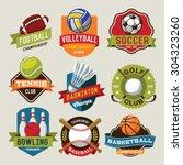 sport logotypes set. sport... | Shutterstock .eps vector #304323260