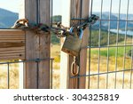 Locked Gate On Beautiful...