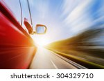 abstract acceleration motion | Shutterstock . vector #304329710