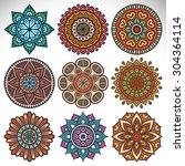 mandalas. vintage decorative...   Shutterstock .eps vector #304364114