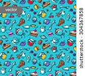 confectionery vector pattern.... | Shutterstock .eps vector #304367858