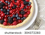 Sweet Tart With Raspberries ...