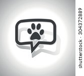curved chat bubble with animal...