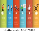 flat style business people... | Shutterstock .eps vector #304374020