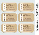 price tags design  vector... | Shutterstock .eps vector #304376810