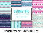 seamless vector tribal texture... | Shutterstock .eps vector #304381829