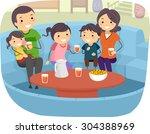 stickman illustration of a... | Shutterstock .eps vector #304388969