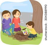 stickman illustration of a... | Shutterstock .eps vector #304388990