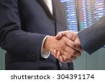 business handshake  investment... | Shutterstock . vector #304391174