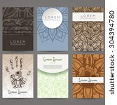 set of vector design templates. ... | Shutterstock .eps vector #304394780