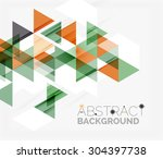 abstract geometric background.... | Shutterstock .eps vector #304397738