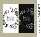 vector card templates. can be... | Shutterstock .eps vector #304403729