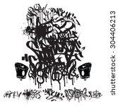 graffiti marker tags   writing  ... | Shutterstock .eps vector #304406213