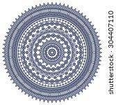 mandala. vintage decorative... | Shutterstock .eps vector #304407110