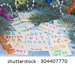 new year's resolutions | Shutterstock . vector #304407770