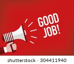 good job    Shutterstock .eps vector #304411940