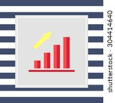 icon of growing bar chart | Shutterstock .eps vector #304414640