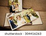 gray and brown textile velvet... | Shutterstock . vector #304416263