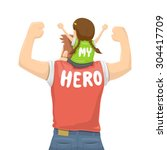 father's day   my father is a... | Shutterstock .eps vector #304417709
