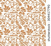cute background. autumn. vector ... | Shutterstock .eps vector #304417790