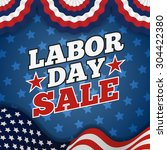 labor day sale promotion... | Shutterstock .eps vector #304422380