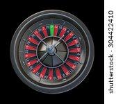 casino roulette wheel  isolated ... | Shutterstock . vector #304422410