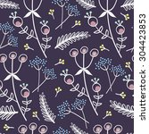 seamless floral pattern with... | Shutterstock .eps vector #304423853