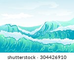Blue Sea Wave And Sky....