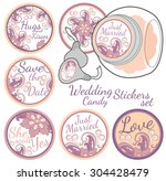 personalized candy sticker... | Shutterstock .eps vector #304428479