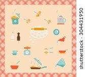 cooking utensils vector... | Shutterstock .eps vector #304431950
