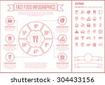 fast food infographic template... | Shutterstock .eps vector #304433156