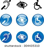 Deaf Blind Disabled Icons 1....