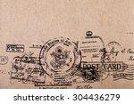 a Back side blank vintage postcard