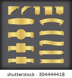 golden ribbons.golden ribbon... | Shutterstock .eps vector #304444418