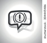 curved chat bubble with alert...