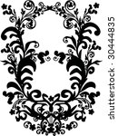 illustration with black and... | Shutterstock .eps vector #30444835