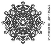 round ornament pattern. vintage ... | Shutterstock .eps vector #304450328