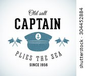 Постер, плакат: Old Salt Captain Vintage