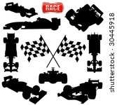 formula cars  flag and icon | Shutterstock .eps vector #30445918