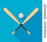 baseball bats and ball icon...   Shutterstock .eps vector #304461029