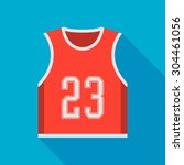 basketball jersey icon with... | Shutterstock .eps vector #304461056