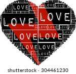 black color type font love... | Shutterstock .eps vector #304461230
