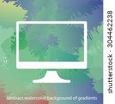 monitor icon. one of set web...