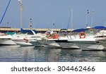 yachts and boats in tenerife... | Shutterstock . vector #304462466