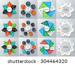 vector hexagon  circles  star... | Shutterstock .eps vector #304464320